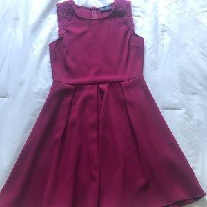 Everly burgundy dress